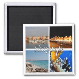 Z.B. * Ägypten - Rotes Meer - Hurghada - Ägypten Quadratischer Magnet