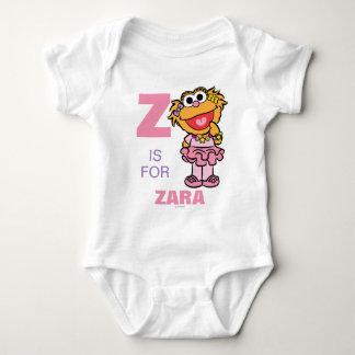 Z ist für Zoe, den | Ihren Namen addieren Baby Strampler