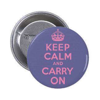 Zacken Sie behalten Ruhe und weitermachen aus Runder Button 5,7 Cm