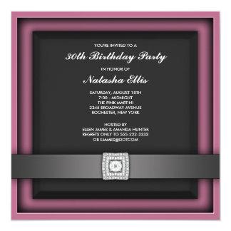 Zacken Sie jede mögliche Zahl-Geburtstags-Party Quadratische 13,3 Cm Einladungskarte