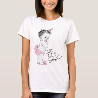 Zacken Sie sein einen Mädchen-Schwangerschafts-T - T-Shirt