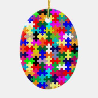Zackige Stücke in der Farbe Ovales Keramik Ornament