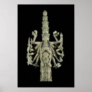 Zahl der hindischen Göttin Kali Poster