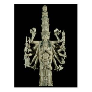 Zahl der hindischen Göttin Kali Postkarte