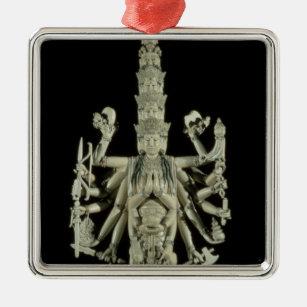 Zahl der hindischen Göttin Kali Silbernes Ornament