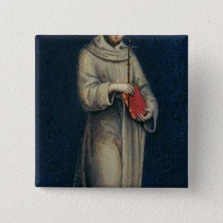 Zahl eines Franziskanermönchs Quadratischer Button 5,1 Cm