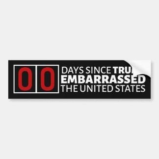 Zahl von Tagen seit Trumpf verwirrte die USA Autoaufkleber