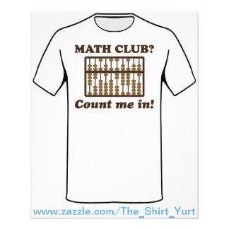 Zählen Sie mich im Mathe-Verein 11,4 X 14,2 Cm Flyer