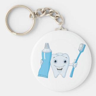 Zahn und Zahnbürste Keychain Schlüsselanhänger