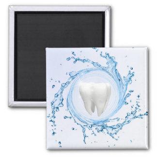 Zahnarzt-medizinischer Zahn beruflich - Magnet Quadratischer Magnet