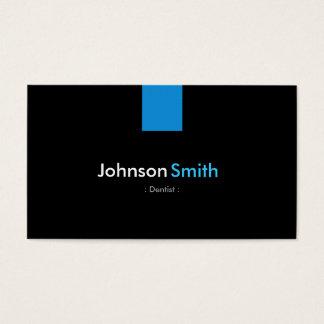 Zahnarzt-modernes Aqua-Blau Visitenkarten