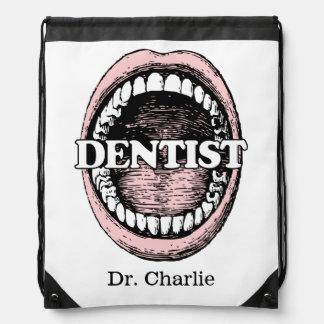 Zahnarzt-Namerucksack Turnbeutel