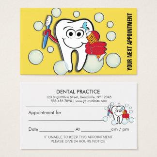 Zahnmedizinische Büro-Verabredungs-Erinnerung Visitenkarte