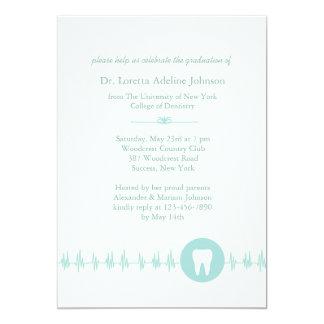 Zahnmedizinische SchulAbschluss-Einladung 12,7 X 17,8 Cm Einladungskarte