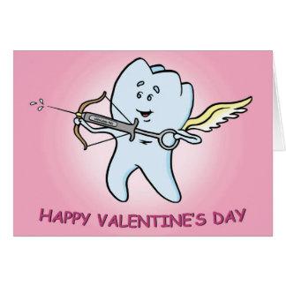 Zahnmedizinische Valentinstag-Karte Mitteilungskarte