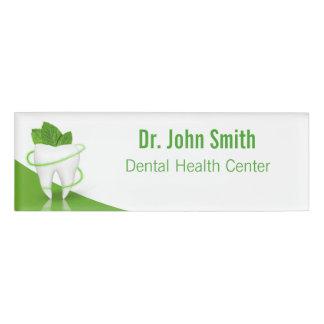 Zahnmedizinischer medizinischer tadelloser namenschild