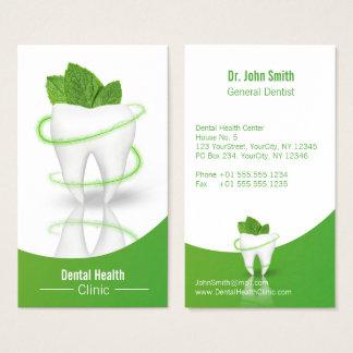 Zahnmedizinischer medizinischer tadelloser visitenkarte