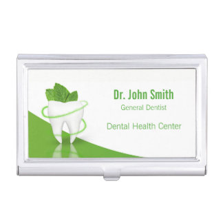 Zahnmedizinischer medizinischer tadelloser Zahn - Visitenkarten Dose