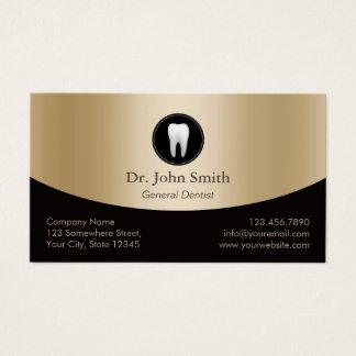 Zahnpflege-elegantes Schwarzes u. Goldverabredung Visitenkarten