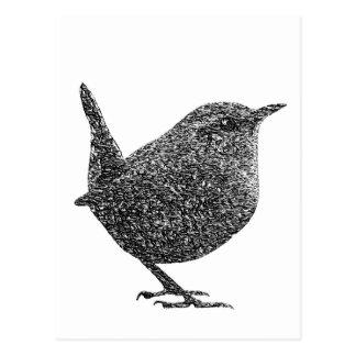 Zaunkönig (Schwarzweiss) Postkarte