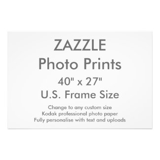 """Zazzle Gewohnheit 40"""" x 27"""" Foto-Druck Photo"""
