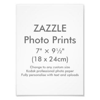 """Zazzle Gewohnheit 7"""" × 9 ½"""" Foto-Druck-Schablone Kunst Photo"""