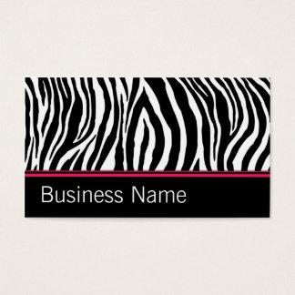 Zebra-Druck-Haar-Stylist-Friseur-Salon-Rosa Visitenkarten