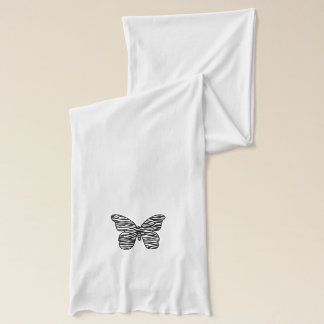 Zebra-Druck-Schmetterlings-Schal Schal
