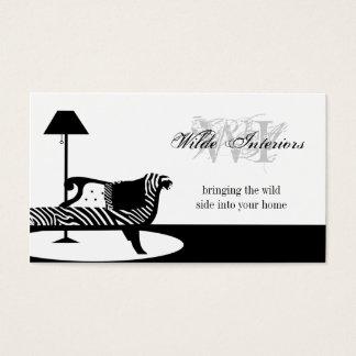 Zebra-Innenarchitektur: Visitenkarten
