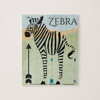 Zebra-Liebhaber-Geschenke Puzzle
