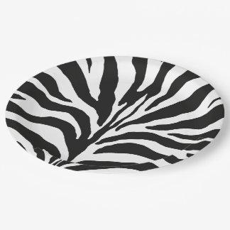 Zebra Pappteller 22,9 Cm