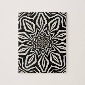 Zebra-Pelz-Kaleidoskop abstrakt Puzzle