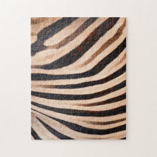 Zebra-Pelz-Puzzlespiel Puzzle