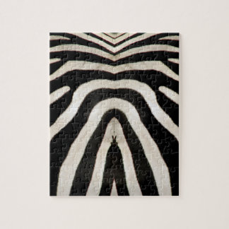 Zebra-Pelz (tatsächliche Fotografie des Zebra-Pelz Puzzle