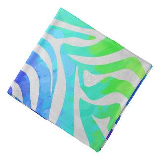 Zebra-Regenbogen und weißer Druck Kopftücher