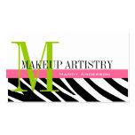 Zebra-Streifen-Muster bilden Künstler-Visitenkarte
