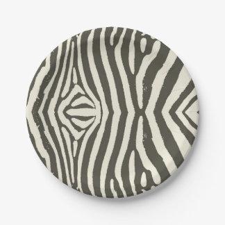 Zebra-Streifen Pappteller 17,8 Cm