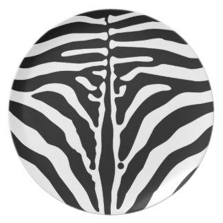 Zebradruck Teller
