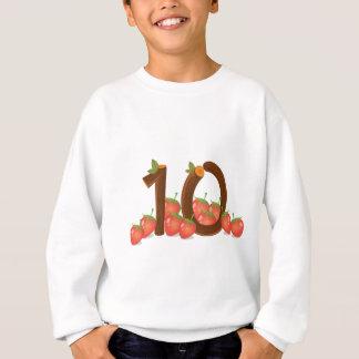 Zehn Erdbeeren Sweatshirt