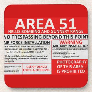 Zeichen des Bereichs-51 Getränkeuntersetzer