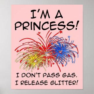 Zeichen Prinzessin-Release Glitter Funny Poster