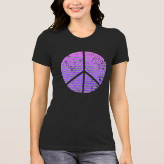 Zeichen-Shirt der Frauen beunruhigtes Friedens T-Shirt