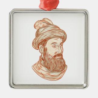 Zeichnen Francisco-Pizarro Silbernes Ornament