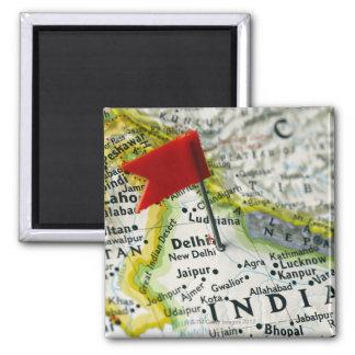 Zeichnen Sie das Button auf, das in Neu-Delhi, Quadratischer Magnet