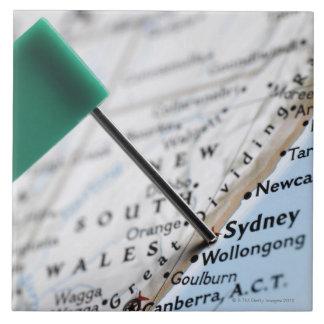 Zeichnen Sie das Button auf, das in Sydney, Keramikfliese