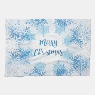 ZEIGEN Sie FLOCKEN-MUSTER frohe Weihnachten Handtuch