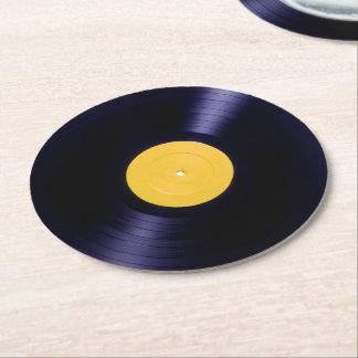 Zeit-Artabdeckung des VinylDisc retro alte Runder Pappuntersetzer