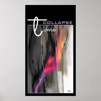 Zeit-Einsturz-abstrakter Malerei-Kunst-Druck Poster
