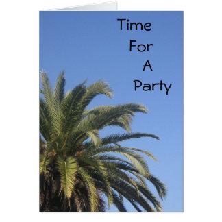 Zeit für ein Party Karte