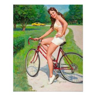 Zeit für eine Fahrt - Retro Pin-up-Girl Fotodrucke
